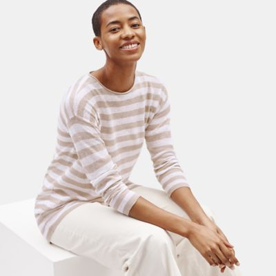 Organic Linen Cotton Crew Neck Tunic