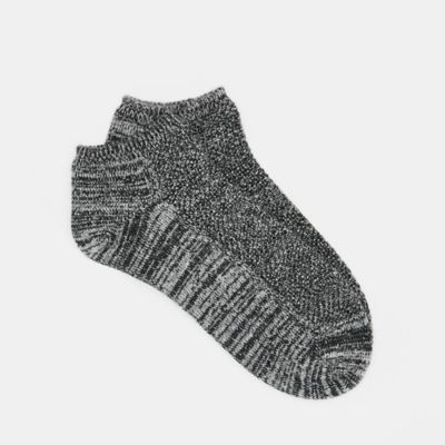 Cashmere Silk Viscose Two-Toned Ankle Sock