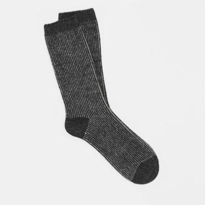 Cashmere Silk Viscose Jacquard Striped Sock
