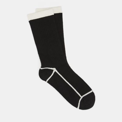 Cashmere Silk Viscose Ribbed Crew Sock