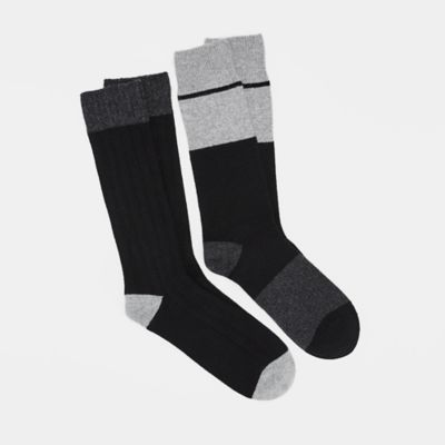 Cozy Cashmere Silk Viscose Men's Color-Block Sock