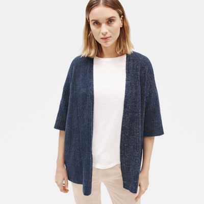 Organic Cotton Tencel Rib Cardigan