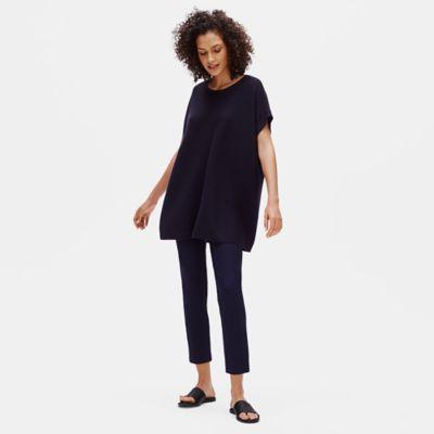 Merino Links Jewel Neck Tunic in Responsible Wool