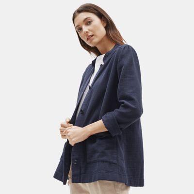 Organic Cotton Channels Stand Collar Jacket