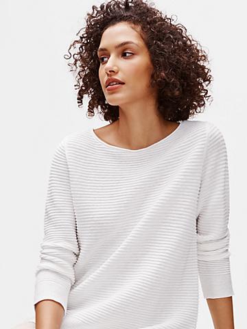 Organic Linen Cotton Bateau Neck Top