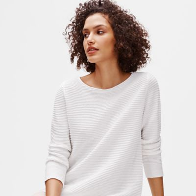 Organic Linen Cotton Bateau Neck Top