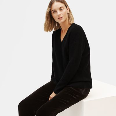 Cashmere Silk Bliss V-Neck Box-Top