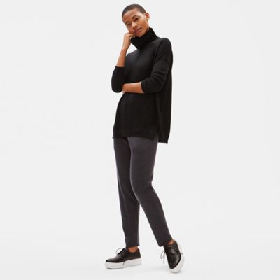 Merino Turtleneck Box-Top in Responsible Wool