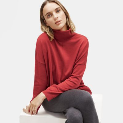 Merino Turtleneck Box-Top in Responsible Wool