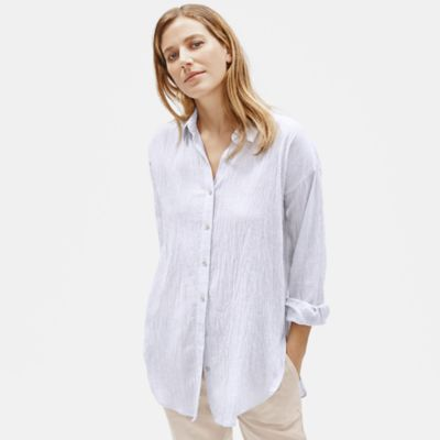 Tencel & Organic Cotton Crinkle Shirt
