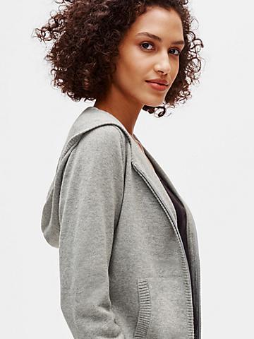 Peruvian Organic Cotton Zip-Front Cardigan