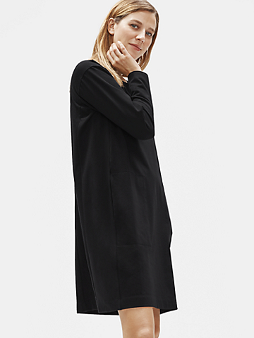 Traceable Organic Cotton Stretch Round Neck Dress