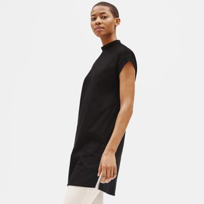 Organic Cotton Stretch Mock Neck Dress
