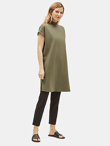 Traceable Organic Cotton Stretch Mock Neck Dress