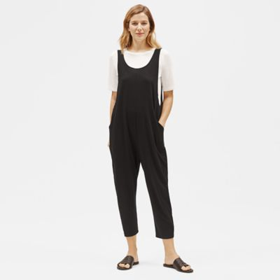 Organic Cotton Slouchy Cropped Jumpsuit