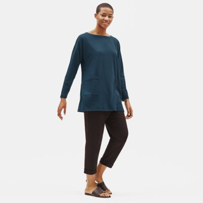 Organic Cotton Stretch Bateau Neck Tunic