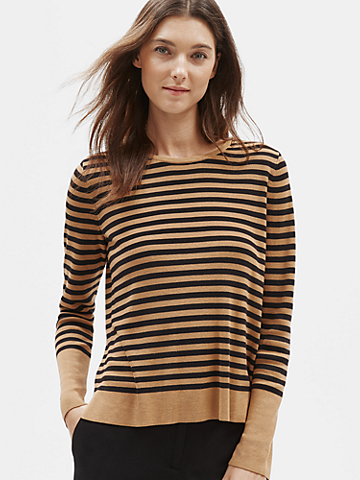 Tencel & Silk Striped Top