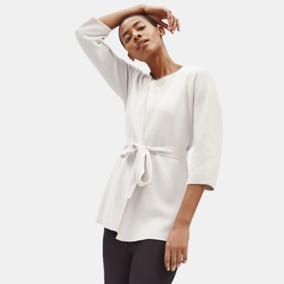 Silk & Organic Cotton Interlock Cardigan