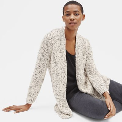 Peruvian Organic Cotton Long Cardigan