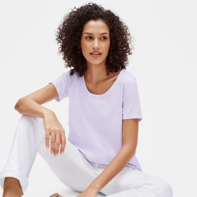 Organic Cotton Jersey U-Neck Tee