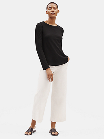 Organic Cotton Jersey Shirttail Hem Tee