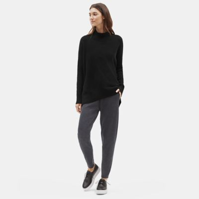 Lofty Recycled Cashmere Mock Neck Top
