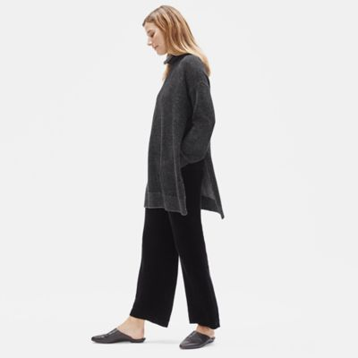 Lofty Recycled Cashmere Funnel Neck Tunic