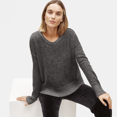 Lofty Recycled Cashmere Crew Neck Box-Top