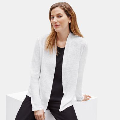Organic Linen Knit Shaped Cardigan