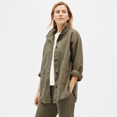 Organic Cotton Hemp High Collar Jacket