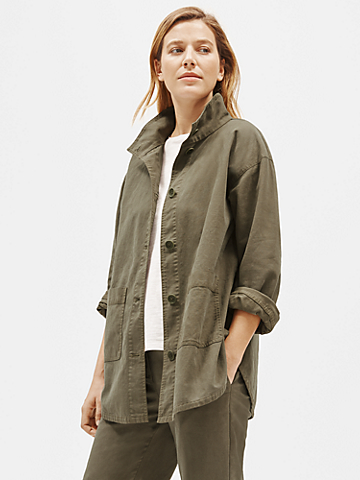 Organic Cotton Hemp High Collar Jacket