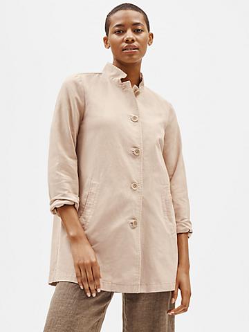 Organic Cotton Hemp Stand Collar Jacket
