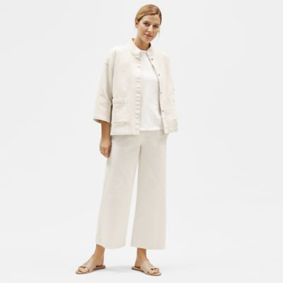 Organic Cotton Hemp Wide-Leg Pant