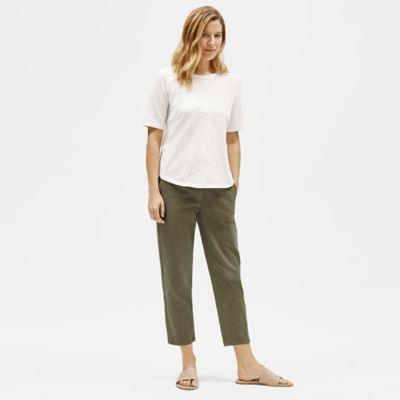 Organic Cotton Hemp Tapered Ankle Pant