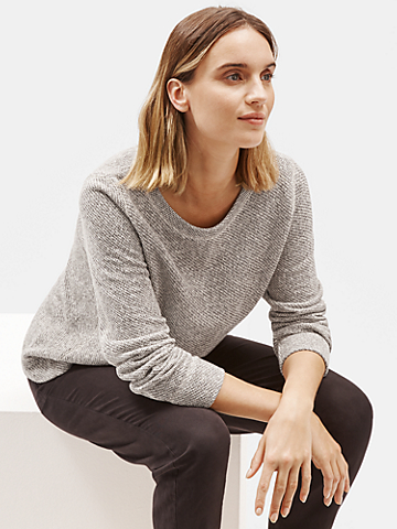 Organic Cotton Terry Round Neck Top