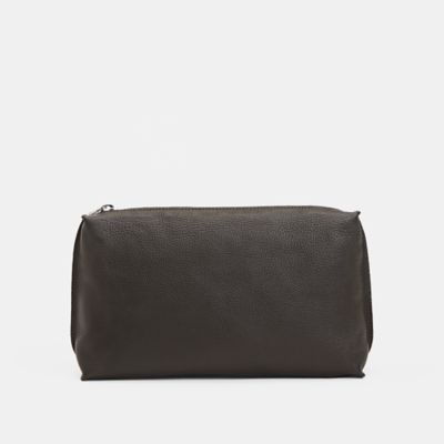 Textured Italian Leather Pouch