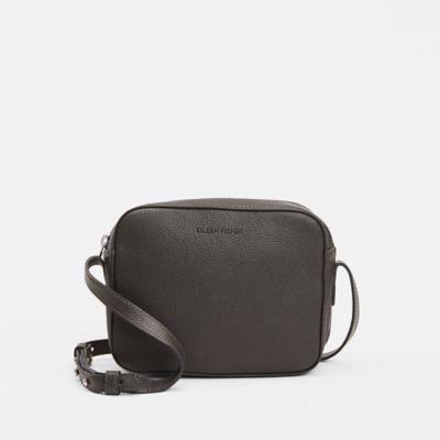 Textured Italian Leather Crossbody Bag