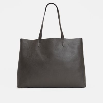 Textured Italian Leather Tote