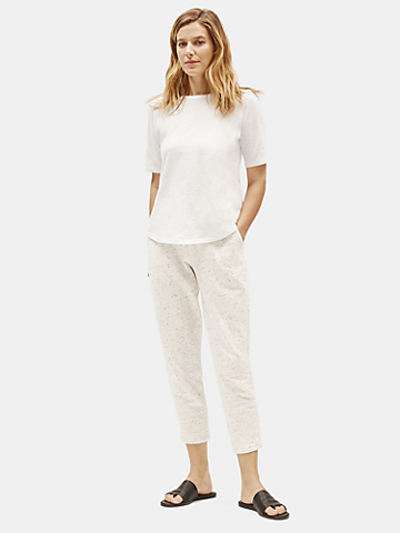 Speckled Organic Cotton Terry Slouchy Pant