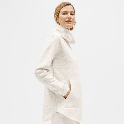 Speckled Organic Cotton Terry Funnel Neck Tunic