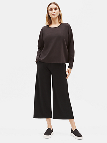Flex Tencel Ponte Wide-Leg Pant