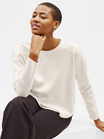 Flex Tencel Ponte Box-Top