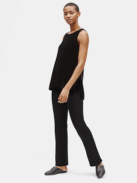 Eileen Fisher NEW Green Womens USA Size XS Slim Knit Slit-Hem Pants $168-296