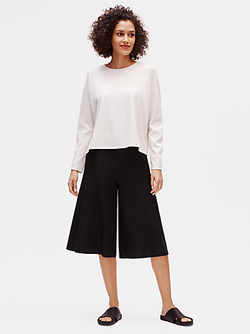 Lightweight Washable Stretch Crepe Culotte Pant