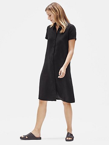 Tencel & Linen Shirtdress with Belt