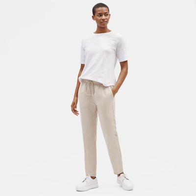 Tencel Linen Tapered Ankle Pant