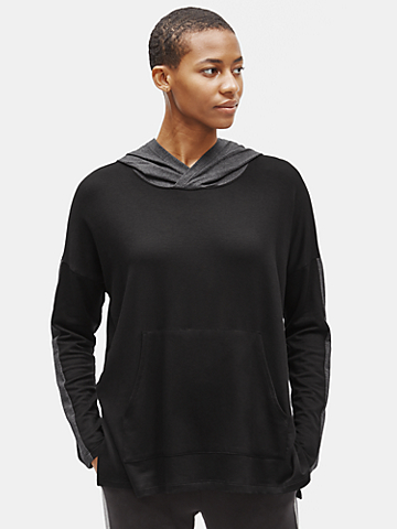 Tencel Stretch Terry Hooded Box-Top