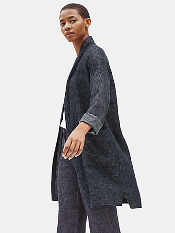 Tweedy Hemp Organic Cotton Long Coat