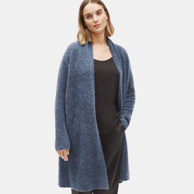 Mohair Plush Melange Long Cardigan