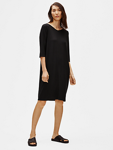 Viscose Jersey V-Neck Dress